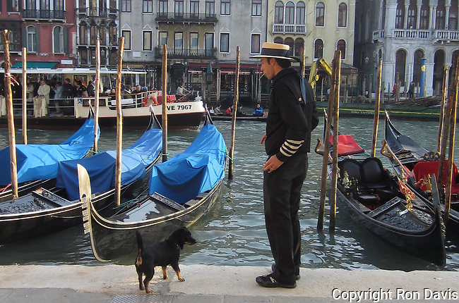 Gondolier and his dog