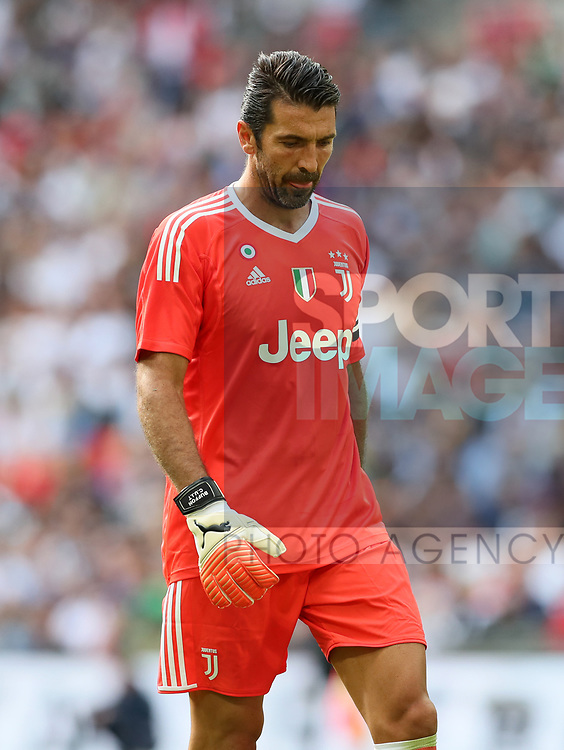 Tottenham's Gianluigi Buffon in action during the pre season match at Wembley Stadium, London. Picture date 5th August 2017. Picture credit should read: David Klein/Sportimage