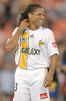 Los Angeles Galaxy midfielder Cobi Jones (13) during the team presentation. Los Angeles Galaxy defeated DC United 5-2, Saturday, August 26, 2006 at RFK Stadium.