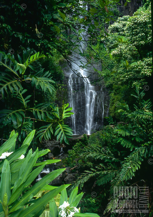 Wailua Falls along the Road to Hana, Maui, Hawaii
