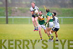 IT Tralee's Rory Deane gets ahead of Kerry's Anthony Maher in the McGrath cup at John Mitchels on Sunday.