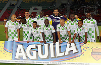 IBAGUÉ -COLOMBIA, 24-02-2016. Jugadores del Boyacá Chicó FC posan para una foto previo al encuentro con Derpotes Tolima por la fecha 6 de la Liga Aguila I 2016 jugado en el estadio Manuel Murillo Toro de la ciudad de Ibagué./ Players of Boyaca Chico FC pose to ma photo prior the match against Deportes Tolima for the date 6 of the Aguila League I 2016 played at Manuel Murillo Toro stadium in Ibague city. Photo: VizzorImage / Juan Carlos Escobar / Str