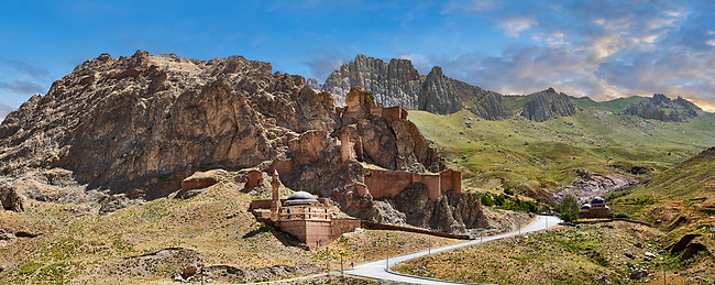 Old mosque near Ishak Pasha Palace,  Agrı province of eastern Turkey.