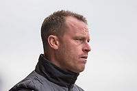 Newport County manager Mike Flynn during the Sky Bet League 2 match between Newport County and Notts County at Rodney Parade, Newport, Wales on 6 May 2017. Photo by Mark  Hawkins / PRiME Media Images.