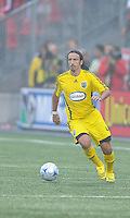 Gino Padula (4) in action at  BMO Field on Saturday September 13, 2008. .The game ended in a 1-1 draw.