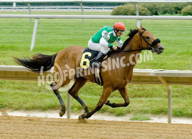 Alantis Moon winning at Delaware Park on 6/17/12