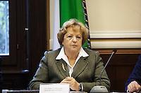 Milano: il Ministro Annamaria Cancellieri in prefettura a Milano per la firma protocollo legalità per gli appalti EXPO..