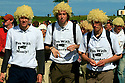 Colin Montgomerie fans during the second round of the 2007 Open Championship played at Carnoustie on 20th July 2007 in Carnoustie, Scotland. © Phil Inglis