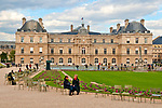 The 17th century Luxembourg Palace, a former royal residence and Luxembourg Gardens in Paris, France