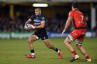 Jonathan Joseph of Bath Rugby in possession. European Rugby Champions Cup match, between Bath Rugby and RC Toulon on December 16, 2017 at the Recreation Ground in Bath, England. Photo by: Patrick Khachfe / Onside Images