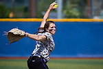 21 MAY 2016:  Hillary Carpenter (1) of the University of North Alabama pitches against Humboldt State University during the Division II Women's Softball Championship held at the Regency Athletic Complex on the Metro State University campus in Denver, CO.  North Alabama defeated Humboldt State 4-1 to win the national title.  Jamie Schwaberow/NCAA Photos