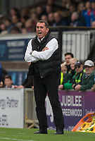 Barnet Manager Martin Allen during the Sky Bet League 2 match between Wycombe Wanderers and Barnet at Adams Park, High Wycombe, England on 22 October 2016. Photo by Andy Rowland.