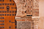 A door in Toledo, Spain. The architecture of Toledo, Spain shown here with a large Moorish style door