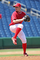 April 14, 2010 Pitcher Korey Noles of the Clearwater Threshers, Florida State League Class-A affiliate of the Philadelphia Phillies, during a game at Bright House Networks Field in Clearwater Fl. Photo by: Mark LoMoglio/Four Seam Images