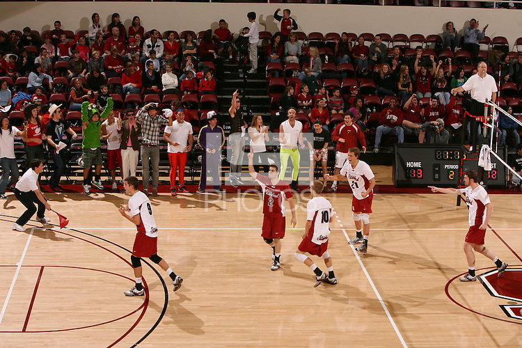 STANFORD, CA - JANUARY 30:  Jarod Keller of the Stanford Cardinal during Stanford's 3-2 win over the Long Beach State 49ers on January 30, 2009 at Maples Pavilion in Stanford, California. Also pictured are Brad Lawson, Spencer McLachlin, Evan Barry and Brandon Williams.