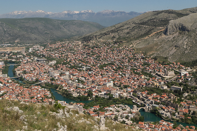 A view on Mostar from Hum hill.