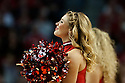 December 14, 2013: Nebraska Cornhusker Scarlets dance team member entertaining the crowd during a time out in the game against the Arkansas State Red Wolves at the Pinnacle Bank Areana, Lincoln, NE. Nebraska defeated Arkansas State 79 to 67.