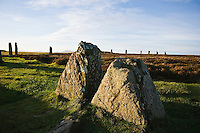 Remians of stone at Ring of Brodgar standing stones, Orkney, Scotland