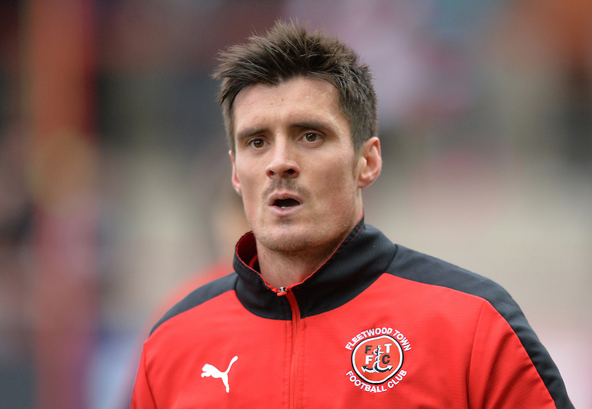 Fleetwood Town's Stephen Jordan<br /> <br /> Photographer Dave Howarth/CameraSport<br /> <br /> Football - The Football League Sky Bet League One - Fleetwood Town v Shrewsbury Town - Sunday 7th February 2016 - Highbury Stadium - Fleetwood  <br /> <br /> &copy; CameraSport - 43 Linden Ave. Countesthorpe. Leicester. England. LE8 5PG - Tel: +44 (0) 116 277 4147 - admin@camerasport.com - www.camerasport.com