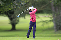 Kay Gilbert (Malone) during the final  of the Ulster Mixed Foursomes at Killymoon Golf Club, Belfast, Northern Ireland. 26/08/2017<br /> Picture: Fran Caffrey / Golffile<br /> <br /> All photo usage must carry mandatory copyright credit (&copy; Golffile   Fran Caffrey)