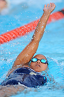 15 October 2010:  FIU's Yesica Rojas competes in the 200 yard individual medley during the meet between the FIU Golden Panthers and the University of Miami Hurricanes at the Norman Whitten Student Union Pool in Coral Gables, Florida.