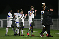Romford players applaud the fans at the end of the match during Grays Athletic vs Romford, Bostik League Division 1 North Football at Parkside on 1st January 2018