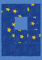 Jumbled European Union flag puzzle
