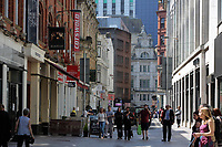 Pictured: Wharton Street, Cardiff Thursday 25 May 2017<br />Re: Preparations for the UEFA Champions League final, between Real Madrid and Juventus in Cardiff, Wales, UK.