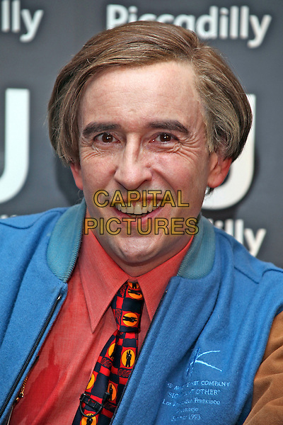 Steve Coogan aka Alan Partridge.At a book signing at Waterstone's, Piccadilly, London, England..October 4h, 2011.headshot portrait blue jacket pink salmon shirt tie 007 james bond tie print .CAP/JEZ  .©Jez/Capital Pictures.