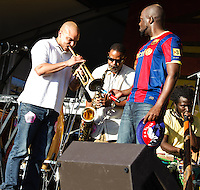 Wycliff Jean and his band at Jazz Fest 2011 in New Orleans, LA.