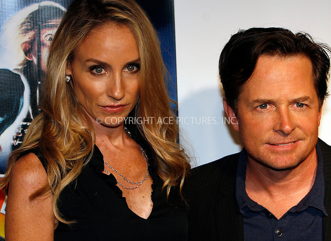 WWW.ACEPIXS.COM . . . . .  ....October 25 2010, New York City....Actor Michael J. Fox and his wife Tracy Pollan at the 'Back to the Future' 25th anniversary trilogy Blu-Ray release at Gustavino's on October 25, 2010 in New York City....Please byline: NANCY RIVERA- ACEPIXS.COM.... *** ***..Ace Pictures, Inc:  ..Tel: 646 769 0430..e-mail: info@acepixs.com..web: http://www.acepixs.com