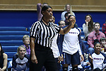 DURHAM, NC - DECEMBER 29: Referee Carla Fountain. The Duke University Blue Devils hosted the Liberty University Flames on December 29, 2017 at Cameron Indoor Stadium in Durham, NC in a Division I women's college basketball game. Duke won the game 68-51.