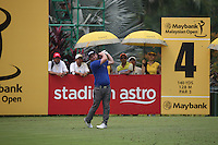 Andy Sullivan (ENG) dropped three shots on the second hole during the Final Round of the 2014 Maybank Malaysian Open at the Kuala Lumpur Golf & Country Club, Kuala Lumpur, Malaysia. Picture:  David Lloyd / www.golffile.ie