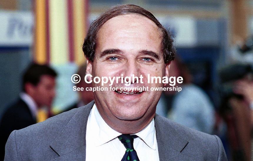 Leon Brittan, EU Commissioner, Britain. Former UK Conservative Party MP and Cabinet Minister. Taken at 1995 Conservative Conference in Blackpool..Ref: 199510074.<br />