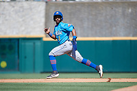 Amarillo Sod Poodles Ivan Castillo (2) running the bases during a Texas League game against the Frisco RoughRiders on May 19, 2019 at Dr Pepper Ballpark in Frisco, Texas.  (Mike Augustin/Four Seam Images)