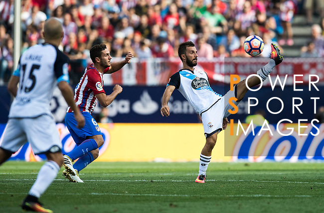 Emre Colak of Deportivo de la Coruna in action during their La Liga match between Atletico Madrid and Deportivo de la Coruna at the Vicente Calderon Stadium on 25 September 2016 in Madrid, Spain. Photo by Diego Gonzalez Souto / Power Sport Images