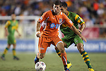 22 September 2012: Carolina's Luke Sassano (8). The Carolina RailHawks played the Tampa Bay Rowdies to a 0-0 tie at WakeMed Soccer Stadium in Cary, NC in a 2012 North American Soccer League (NASL) regular season game.
