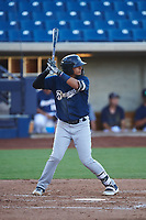 AZL Brewers Blue Luis Silva (3) at bat during an Arizona League game against the AZL Brewers Gold on July 13, 2019 at American Family Fields of Phoenix in Phoenix, Arizona. The AZL Brewers Blue defeated the AZL Brewers Gold 6-0. (Zachary Lucy/Four Seam Images)