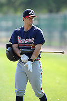 Catcher Chris O'Dowd (96) of the Atlanta Braves farm system before a Minor League Spring Training intrasquad game on Wednesday, March 18, 2015, at the ESPN Wide World of Sports Complex in Lake Buena Vista, Florida. (Tom Priddy/Four Seam Images)