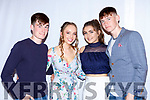 Mark O'Donoghie, Aisling O'Connell, Maeve Young and Adam O'Donoghue at the Castleisland Community College fashion show on Thursday in the River Island Hotel