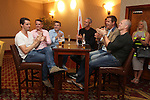 The England team Matthew Goode, Graeme Swann, Bradley Walsh, Mark Foster, Peter Jones and Mike Tindall.<br /> Celebrity Cup Players BBQ<br /> Celtic Manor Resort<br /> 04.07.14<br /> &copy;Steve Pope-SPORTINGWALES
