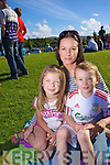 Caoimhe Leahy, Will Leahy and Claire Leahy . pictured at the Airshow at the Aquadome on Saturday.