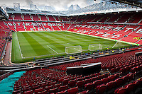 Saturday 11 January 2014 Pictured: General view of Old Trafford, Manchester<br /> Re: Barclays Premier League Manchester Utd v Swansea City FC  at Old Trafford, Manchester