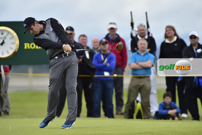 Thomas AIKEN (RSA) tees off the 13th tee during Friday's Round 2 of the 144th Open Championship, St Andrews Old Course, St Andrews, Fife, Scotland. 17/07/2015.<br /> Picture Eoin Clarke, www.golffile.ie