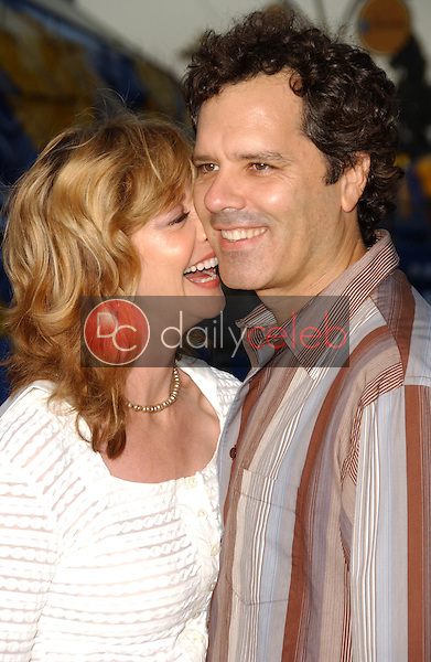 Sharon Lawrence and husband Tom<br />