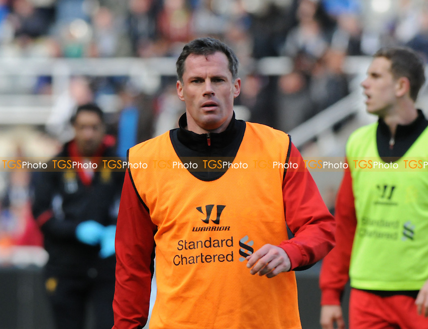 Liverpool defender Jamie Carragher - Newcastle United vs Liverpool - Barclays Premier League Football at St James Park, Newcastle upon Tyne - 27/04/13 - MANDATORY CREDIT: Steven White/TGSPHOTO - Self billing applies where appropriate - 0845 094 6026 - contact@tgsphoto.co.uk - NO UNPAID USE