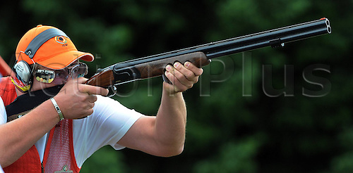 31.07.2013. Suhl, Germany.  European Championship ongoing trap shooting Karsten Bind Rich ger