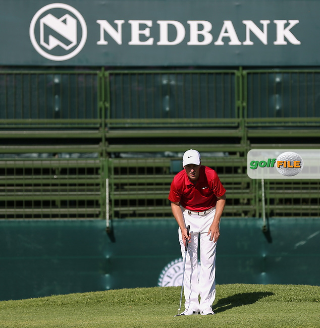 Ross Fisher (ENG) leads the field after a Round One 66 at the 2014 Nedbank Golf Challenge at the Gary Player Country Club, Sun City Resort, South Africa. Picture:  David Lloyd / www.golffile.ie