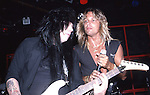 Mick Mars & Vince Neil of Motley Crue  at The Roxy in Hollywood Aug 1986.