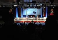 Deutsche Meisterschaft DM 2013 Fechten Säbel in Tauberbischofsheim - im Bild: die Finalhalle in Tauberbischofsheim waehrend der Halbfinals. Foto: Norman Rembarz
